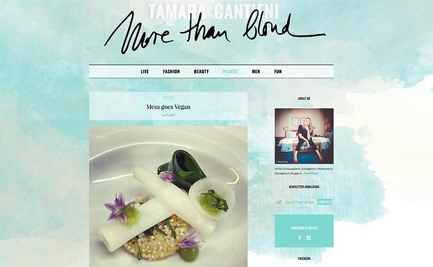 Mesa goes vegan / More Than Blond Blog