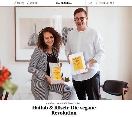 Hattab & Rösch: Die vegane Revolution / Gaultmillau.ch