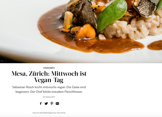 Mesa, Zürich: Mittwoch ist Vegan-Tag / GaultMillau.ch