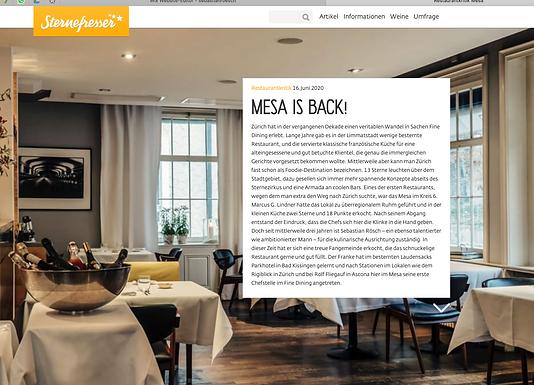 MESA IS BACK! Restaurantkritik / Sternefresser.de