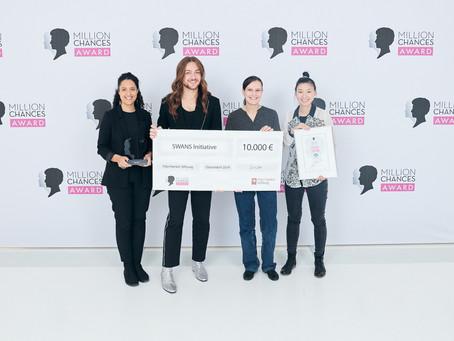 SWANS gewinnt Publikumspreis beim Schwarzkopf Million Chances Award!