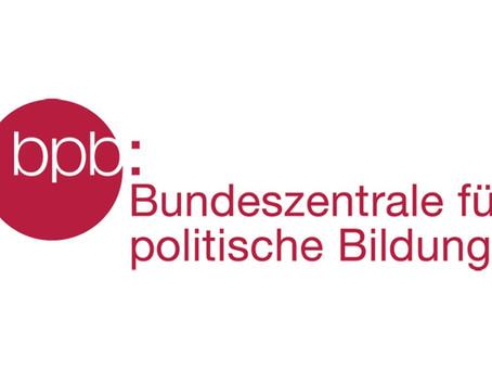 Bundeszentrale für politische Bildung zeichnet SWANS aus!