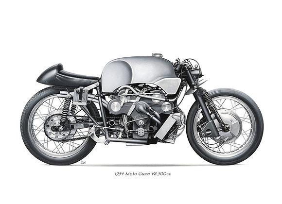 Moto Guzzi V8 1954 naked