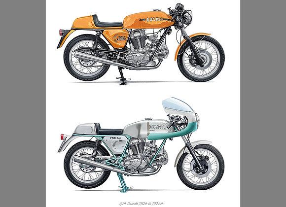 Ducati 750S & SS Duo 1974