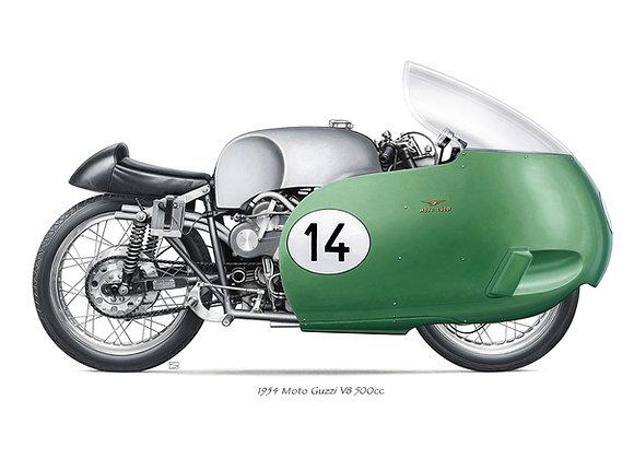Moto Guzzi V8 1954 carénée