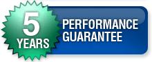 5 year performance guarantee