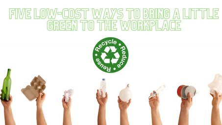 Five Low-Cost Ways to Bring a Little Green to the Workplace