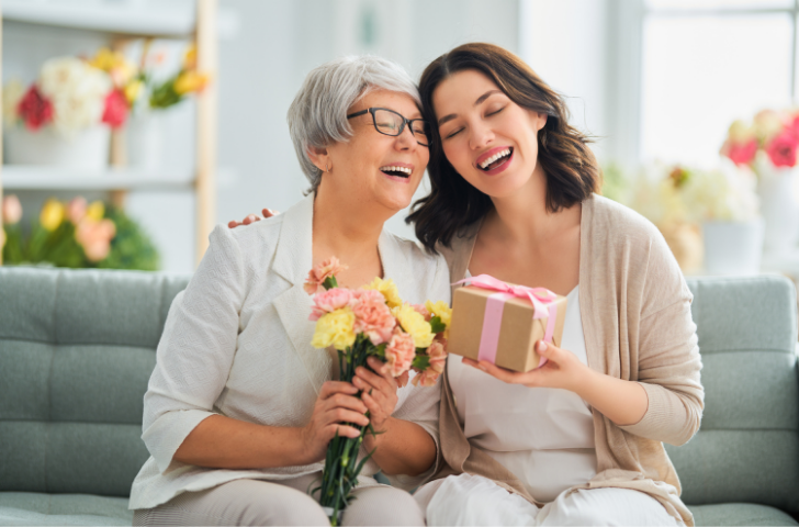 Mother and Daughter sharing gifts