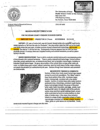 Dr. Kagan-Hallet Autopsy Report page 1.