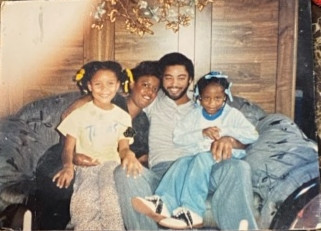 Alfred with his nieces.