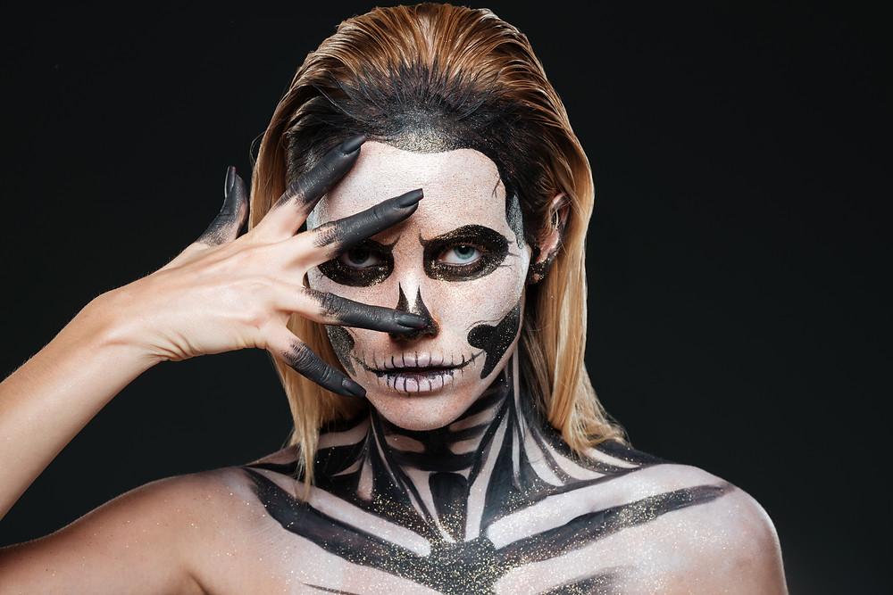 Skeleton make-up artist