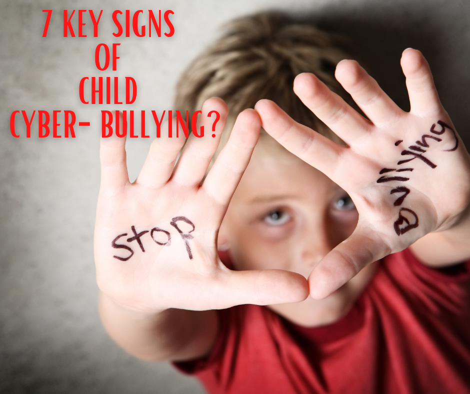"""Young boy with """"Stop Bullying"""" written on his hands"""