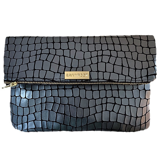 Women's SAVVYROOT Fold-over Clutch Chrome Scales