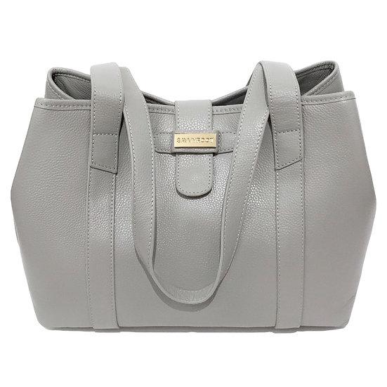 Women's SAVVYROOT Luxury Leather Grey Charleston2 Tote