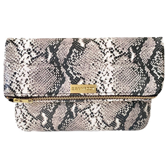 Women's SAVVYROOT Fold-over Clutch Natural Python