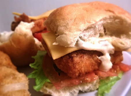 Walleye Sliders with Peachy Sriracha Tartar Sauce