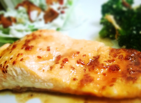 Teriyaki Salmon with Hot Honey Glaze