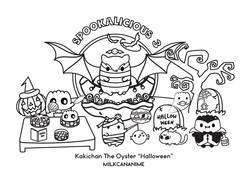 Kakichan Halloween Sketchbook 2 for Blog