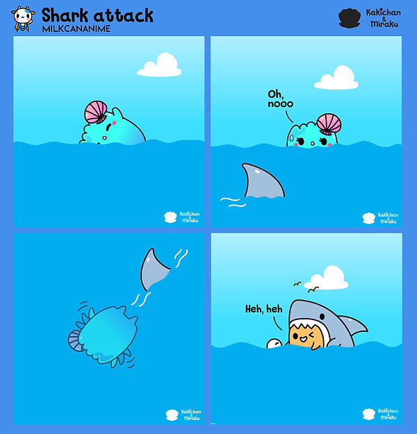 Shark attack by Kakichan the oyster