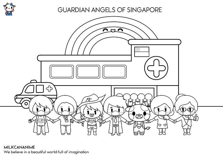 GUARDIAN ANGELS Colouring Sheets A4 by M