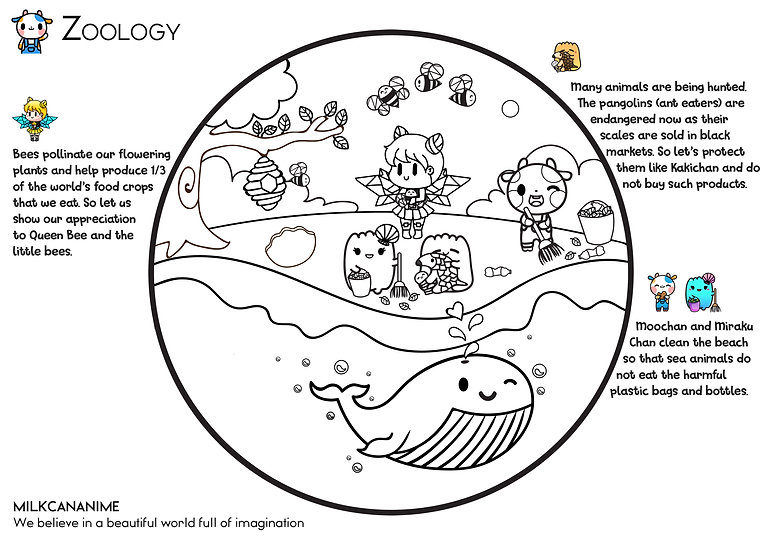 Zoology v3 Colouring Sheets A4 by MILKCA