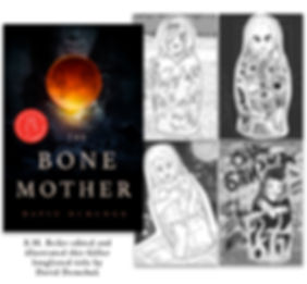 book cover and matroyshka dolls