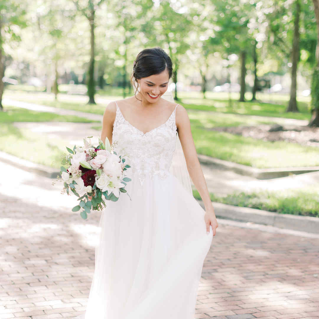 Bride- Historic brick streets, park setting