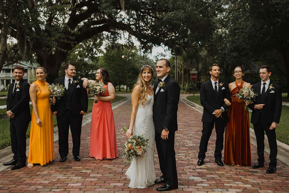 Bridal Party- Historic Streets of Sanford