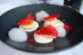 Scallops with foam of Sauvignon Blanc &