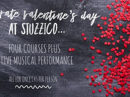 Celebrate Valentine's Day at Stuzzico...