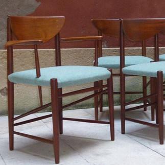 Peter Hvidt, chaises danoises, 1956