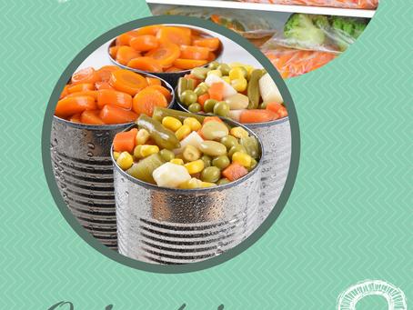 Plutôt légumes surgelés ou légume en conserve  ?