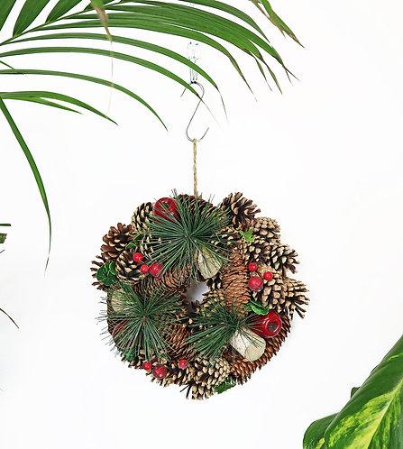 Artificial Christmas wreath small