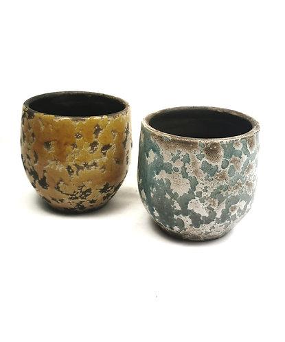 Glazed pot 12cm