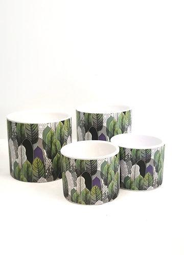 Leaf pattern pot