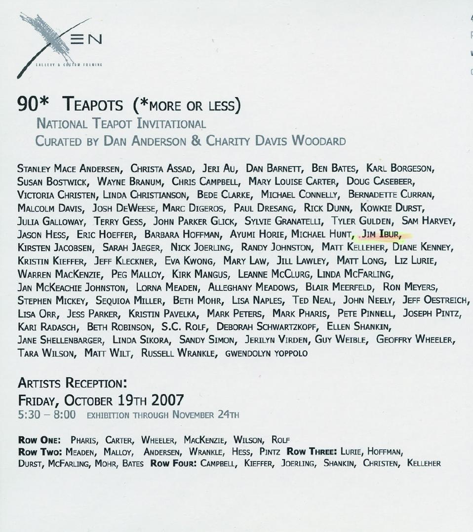 90* Teapots 2007