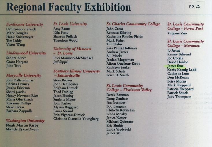 Regional Faculty Exhibition 2007