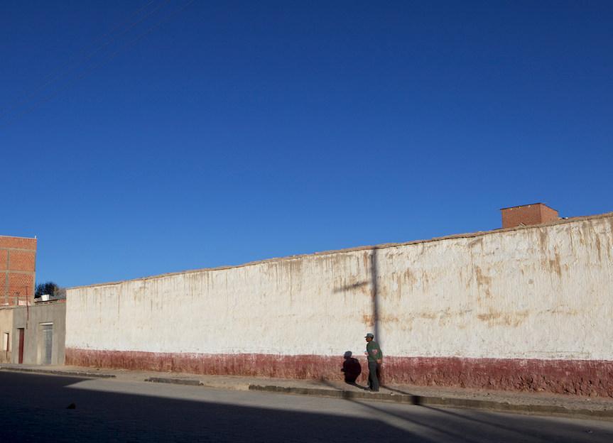 Man and wall
