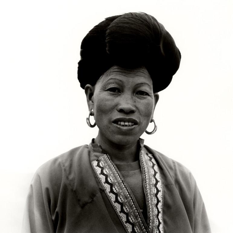 Portrait of a Long Hair Yao minority woman