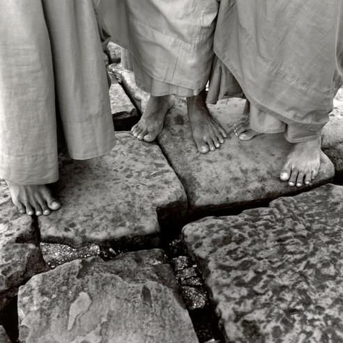 Feet of Three Monks