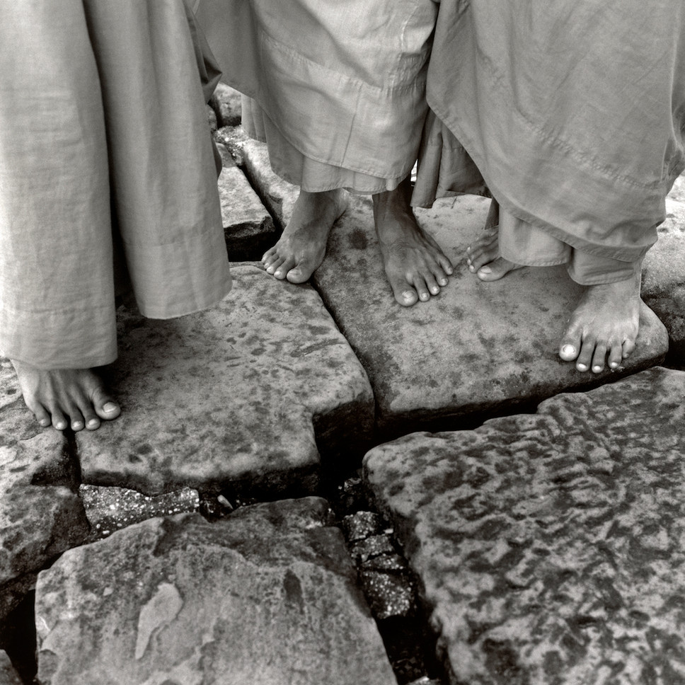 Feet of Three Monks