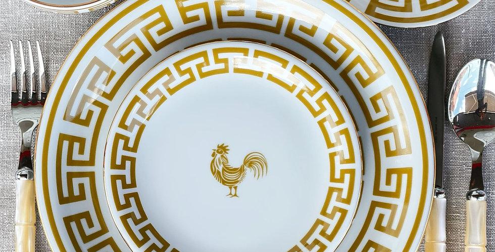 Lucky Rooster Collection Mustard 10'lu Tabak Set (66 parça)