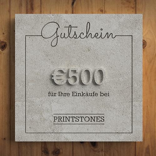 Printstones €500 Gutschein