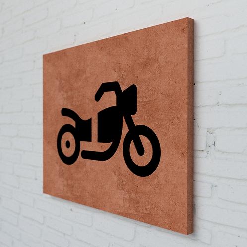 Moto Symbolplatte