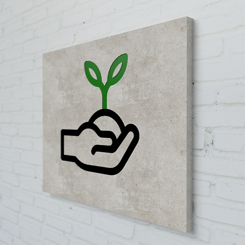 Plant Symbolplatte