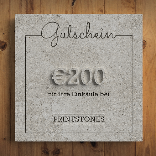 Printstones €200 Gutschein