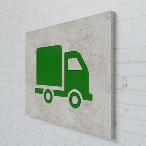 Truck Symbolplatte