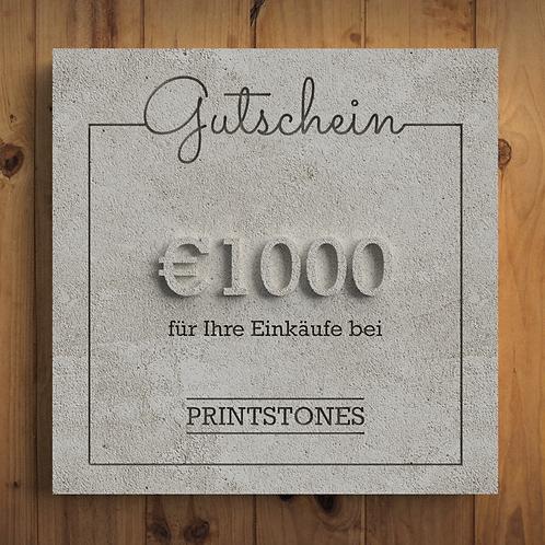 Printstones €1000 Gutschein