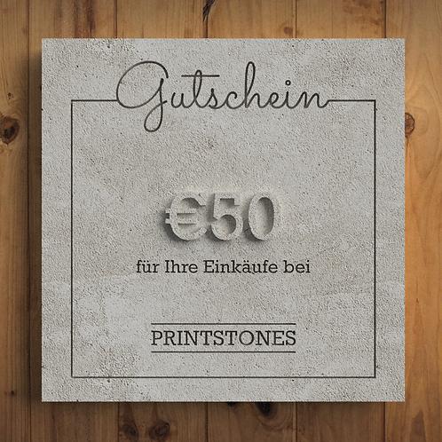 Printstones €50 Gutschein