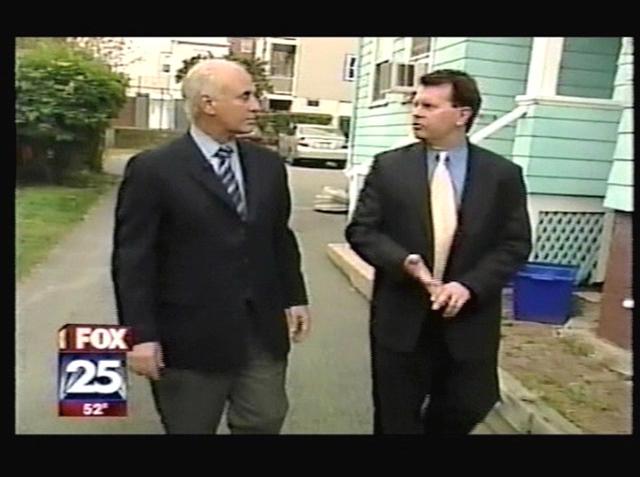 Tom Shamshak and Fox25's Bob Ward